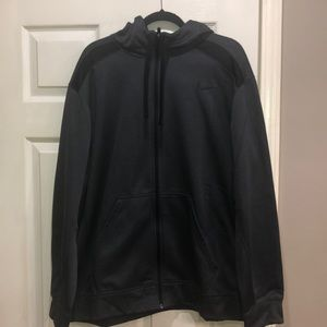 Nike ThermaFit full zip charcoal gray hoodie XXL